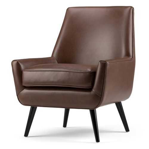 Simpli Home Faux-Leather Accent Chair