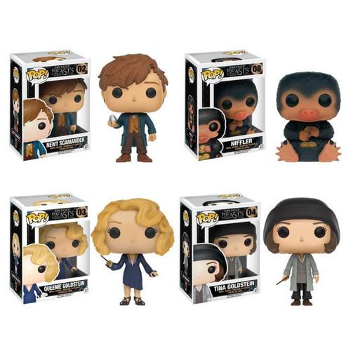 Funko POP! Movies Fantastic Beasts Collectors Set; Newt, Niffler, Queenie, Tina