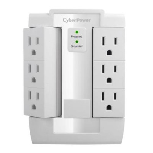 CyberPower 6-Outlet Swivel Wall Tap Surge Protector