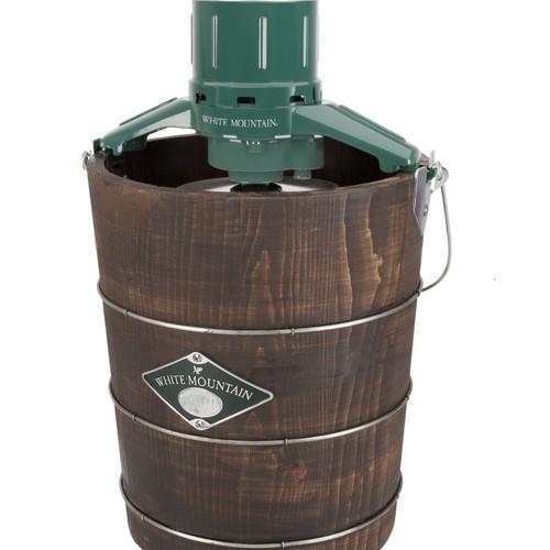 White Mountain 4010379 Electric 4 Qt. Wood Tub Ice Cream Maker