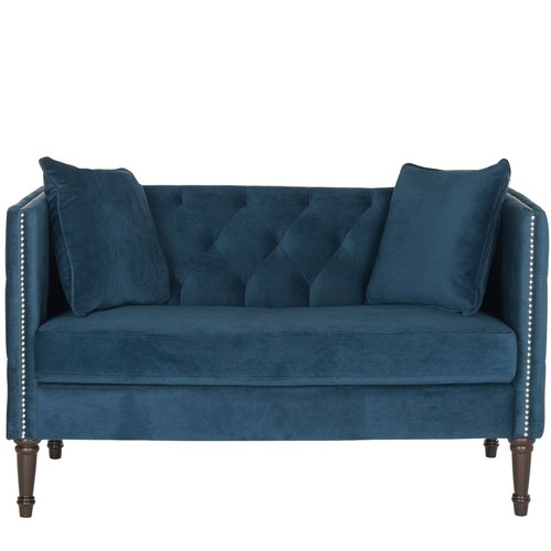 Sarah Tufted Settee with Pillows by Safavieh
