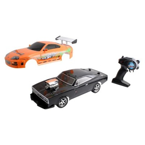 Jada Toys FF '70 Dodge Charger RT Elite Street RC Vehicle with Extra Shell