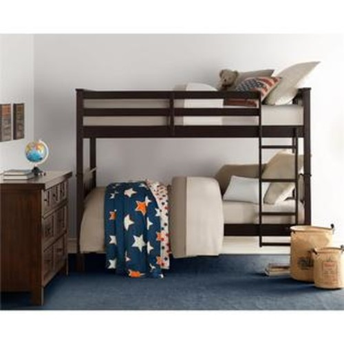 Dorel Living Dylan Twin Bunk Bed in Espresso