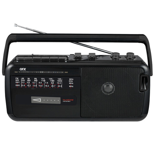 QFX 970103243M Am/Fm/Sw1-2 4 Band Radio/Cassette Recorder Usb/Sd