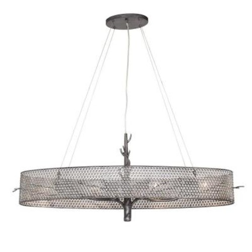 Varaluz Treefold 4-Light Steel Linear Pendant