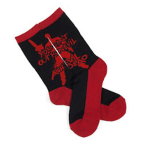 Ash vs Evil Dead Outrun Evil Socks Black and Red