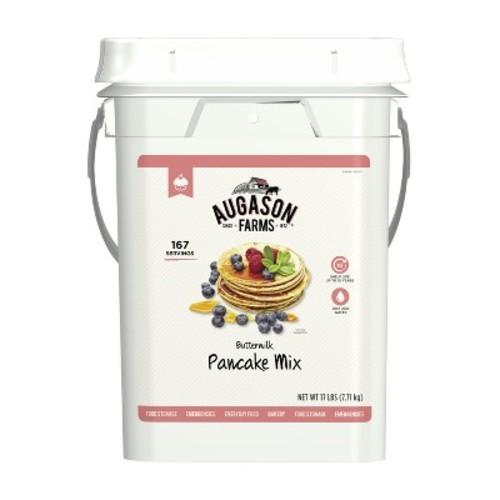 Augason Farms Buttermilk Pancake Mix Emergency Bulk Food Storage 4 Gallon Pail 167 Servings