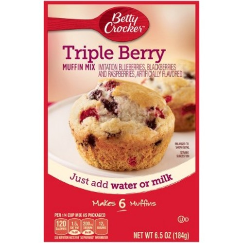 Betty Crocker Triple Berry Muffin Mix 6.5 oz