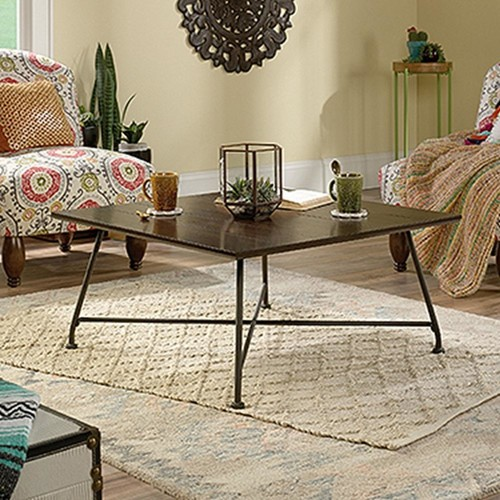 SAUDER Viabella Collection Chestnut Brown Coffee Table