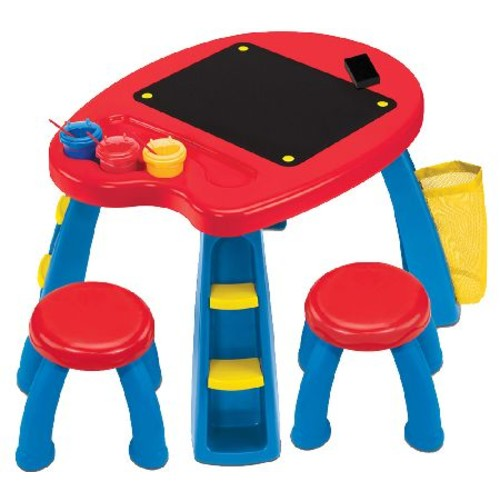 Crayola Creativity Play Station with Table, Stools, Brushes