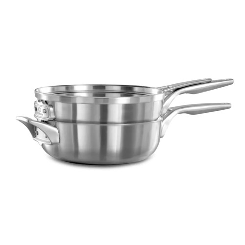 Calphalon Premier Space Saving 3-pc. 10-in. Stacker Stainless Steel Cookware Set