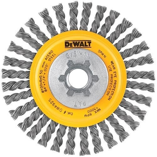 DEWALT DW4925B 4-Inch by 5/8-Inch-11 HP .020 Carbon Stringer Wire Wheel