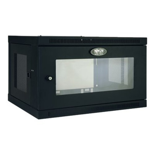 TrippLite 6U Wall Mount Rack Enclosure Cabinet Wallmount with Clear Acrylic Window 200lb Capacity (SRW6UG)