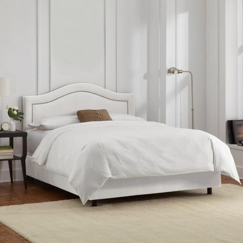 Velvet White Full Inset Nail Button Bed