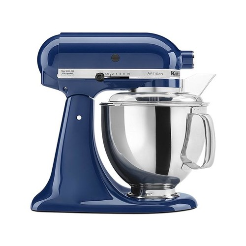 KitchenAid KSM150PSBW Artisan Stand Mixer with Pouring Shield, 5 Quarts, Blue Willow
