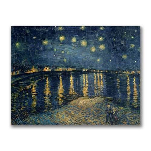Trademark Fine Art Vincent Van Gogh 'The Starry Night II' Canvas Art 14x18 Inches