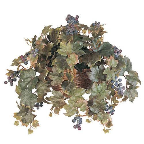 Nearly Natural All Season Silk Grape Leaf Hanging Basket Plant