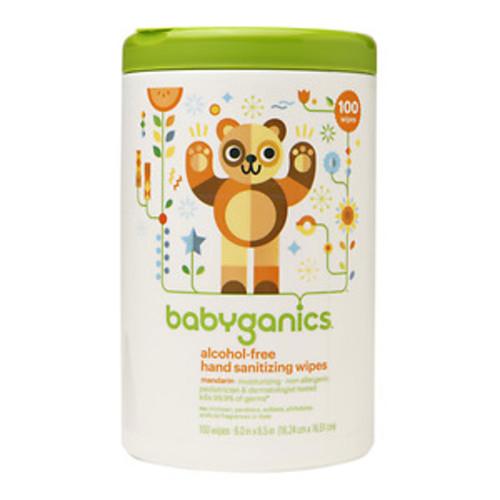 Babyganics Alcohol-Free Hand Sanitizing Wipes, Mandarin