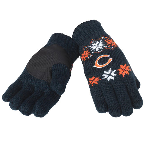 NFL Forever Collectibles Lodge Gloves, Chicago Bears