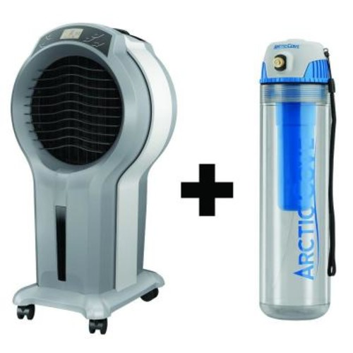 Arctic Cove 350 CFM 3-Speed Portable Evaporative Cooler with Free Cordless 4-Volt 16 oz. Personal Mister