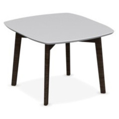 Match Square Coffee Table [Frame : P12 Smoke Ash Wood; Table Top : P94 Matt Optic White Lacquer]
