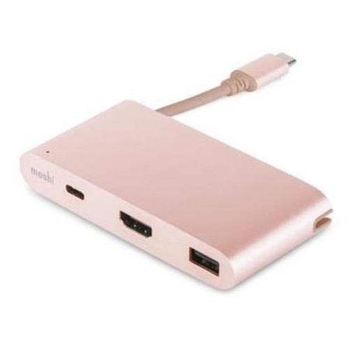 Moshi USB-C Multiport Adapter for MacBook Pro Laptop, Rose G