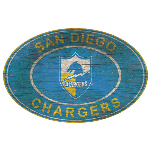 Los Angeles Chargers Heritage Oval Wall Sign