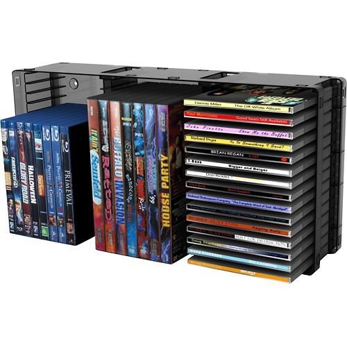 Atlantic - 45-CD/21-DVD/27-Blu-ray Disc Storage Module - Black