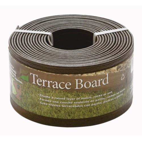 Master Mark Terrace 4in x 40 Ft Black Board Landscape Edging (94440)