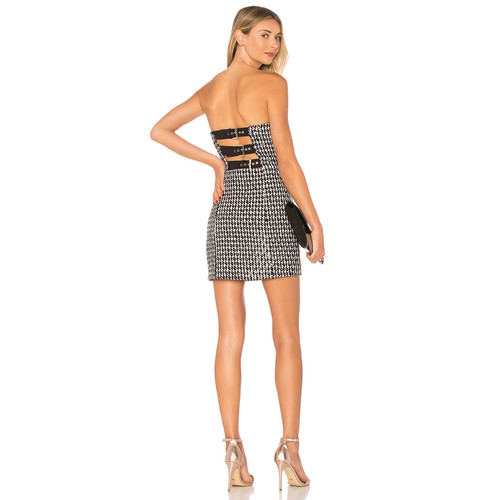 X by NBD Buckle Up Dress in Black & White