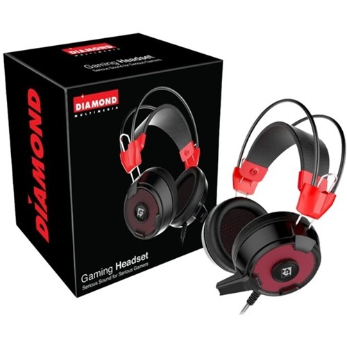 Diamond Multimedia - Multimedia GHXS21 Over-the-Ear Headphones - Red/black