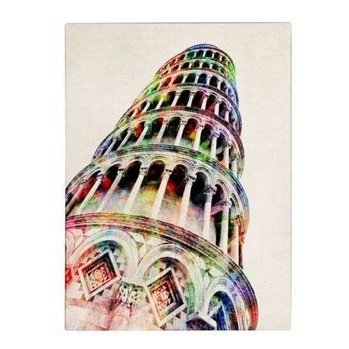 Trademark Fine Art Michael Tompsett 'Leaning Tower Pisa' Canvas Art 14x19 Inches