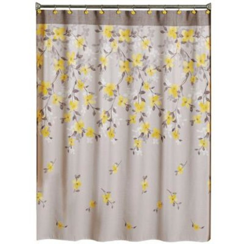 Saturday Knight Spring Garden 70 in. W x 72 in. L Floral Fabric Shower Curtain