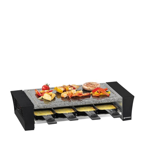 Ticino 8 Person Raclette Party Grill With Stone Plate