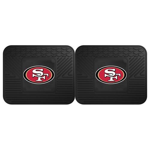 FANMATS San Francisco 49ers 2-Pack Utility Backseat Car Mats