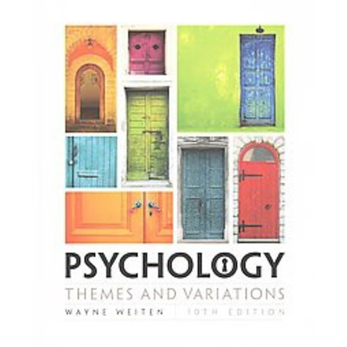 Psychology: Themes and Variations (Hardcover)