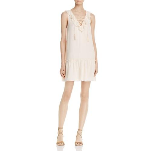 JOIE Felip Lace-Up Silk Dress