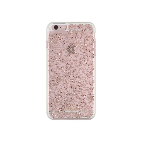 kate spade new york - Clear Glitter Case for Apple iPhone 6 Plus and 6s Plus - Rose gold glitter
