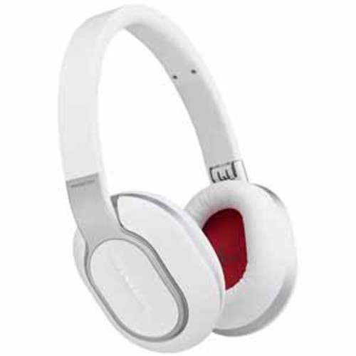 Phiaton Wireless Headphones with Swipe & Touch Interface - White
