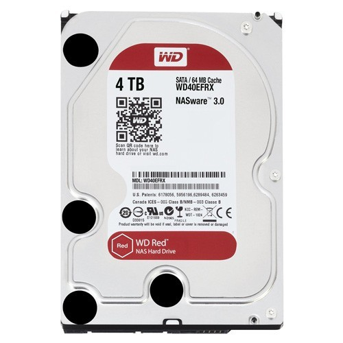 WD Red 4TB NAS Desktop Hard Disk Drive - Intellipower SATA 6 Gb/s 64MB Cache 3.5 Inch (WD40EFRX)