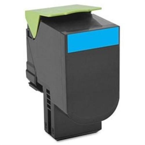 Lexmark Unison 801C Cyan 1000 Page Yield Toner Cartridge for CX510DE, CX410DE, CX410E, CX510DHE and CX Printers