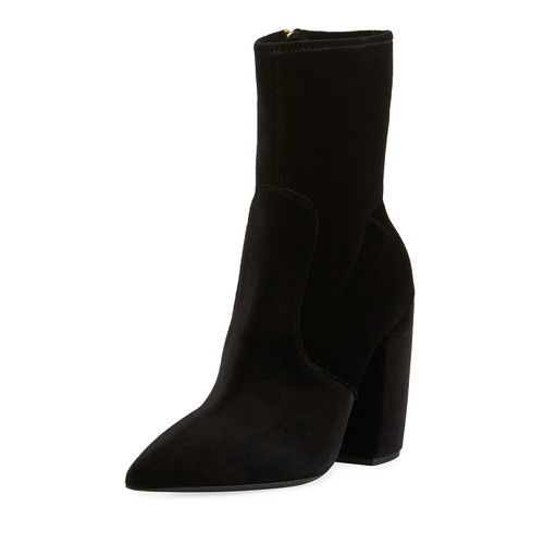 PRADA Stretch-Velvet Zip 100Mm Bootie