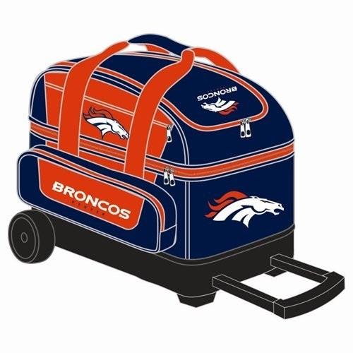 NFL Double Roller Bowling Bag- Denver Broncos