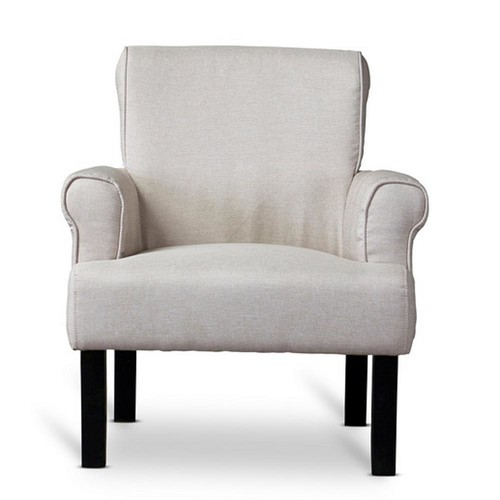 Baxton Studio Baxton Beige Fabric Upholstered Accent Chair