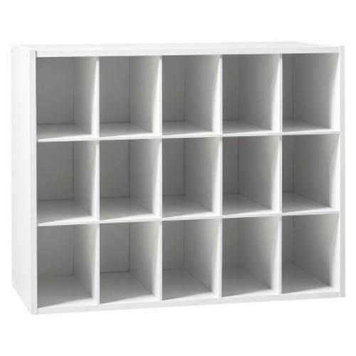 15-Pair Shoe Rack - White - Room Essentials