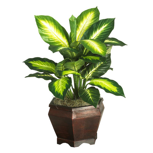 Nearly Natural 6593-0307 42-Inch Golden Dieffenbachia Silk Plant ...