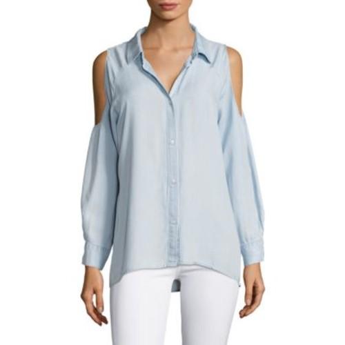 RAILS Sadie Cold Shoulder Chambray Shirt