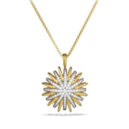 Starburst Large Pendant with Diamonds on Chain