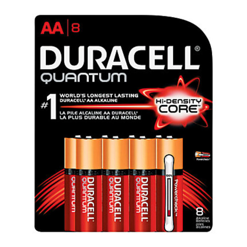 Duracell Quantum AA Alkaline Batteries, Pack Of 8