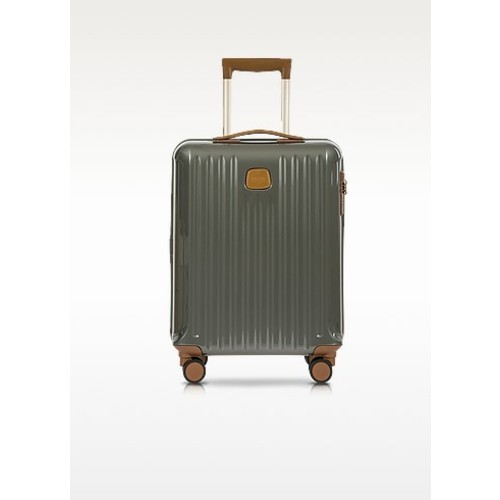 Capri Grey Polycarbonate Hard Case Cabin Trolley